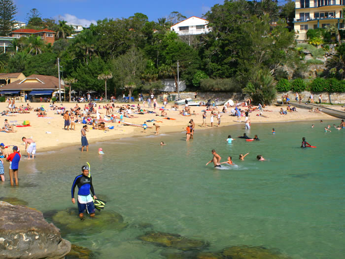 Shelly Beach on a summer day