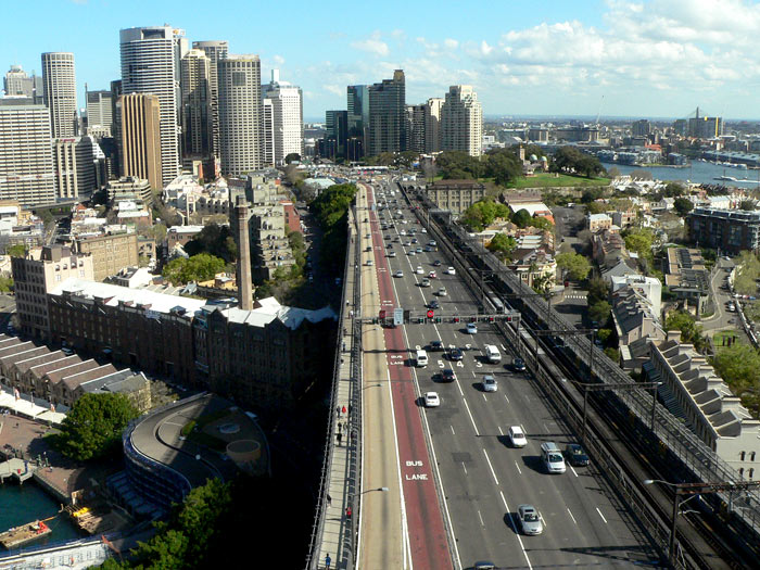 Cars Going Over The Harbour Bridge