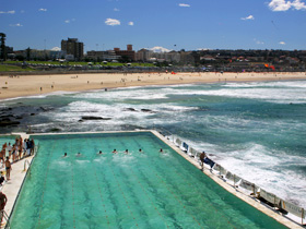 Bondi Beach Ocean Rock Pool Swimming Race