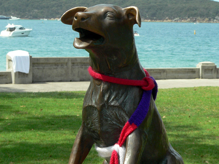 Billy The Dog Statue At Balmoral Beach