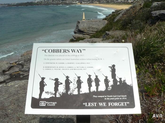 Cobbers Way Memorial North Curl Curl