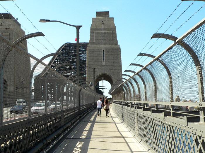 Walking Over The Harbour Bridge